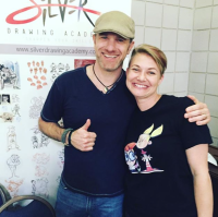 Stephen Silver with GZAEXPO founder Eva Sowinski. Image by @fanalley