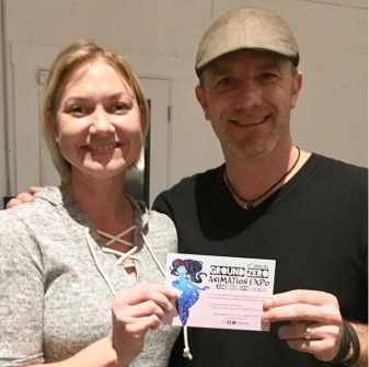 Founder, Eva Sowinski with Stephen Silver at Titmouse Studios