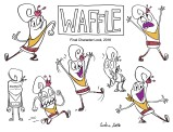 waffle final development poses